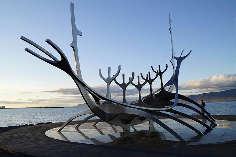 Sun Voyager Sculpture in Reykjavik, Iceland